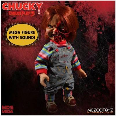Mezco Child's Play 3 Pizza Face Talking Chucky