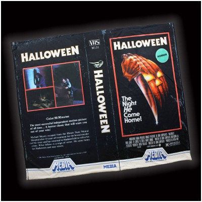 Creepy Co. Halloween VHS Blanket
