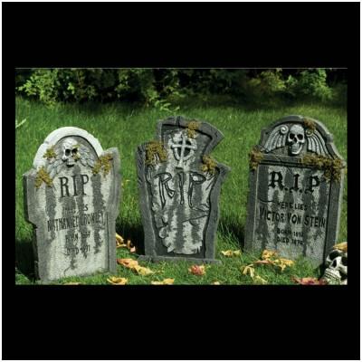 Large Halloween Tombstones x 3