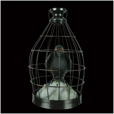 Animated Crow in Cage