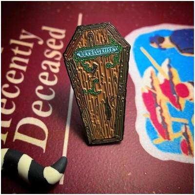Beetlejuice Coffin Pin