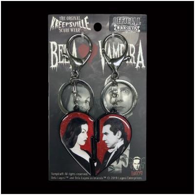 Bela Loves Vampira Broken Heart Keychain Set