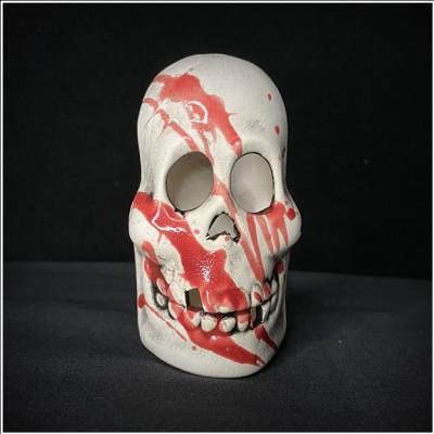 Ceramic Tea Light Holder - Bloody Mini Skull