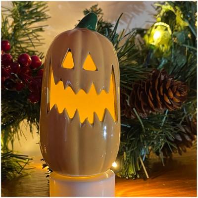 Ceramic Mini Pumpkin - Fangs