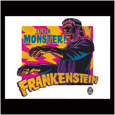 Licensed Universal Monsters Frankenstein Print