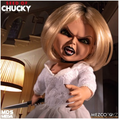 Mezco Designer Series Mega Scale Seed of Chucky Talking Tiffany