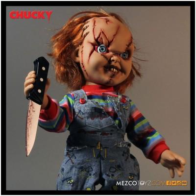 """MEZCO 15"""" Mega Talking Scarred Chucky Doll"""