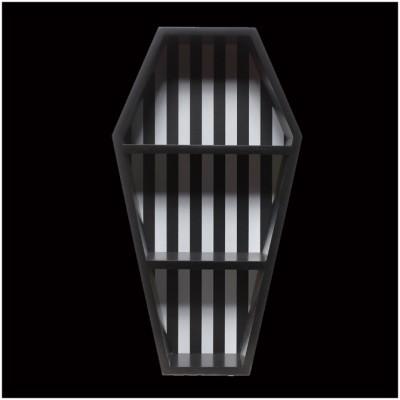 Sourpuss Striped Coffin Wall Shelf