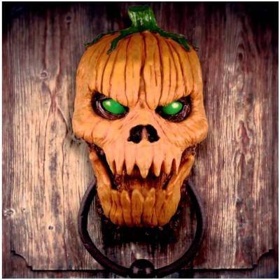 Animated Pumpkin Door Knocker