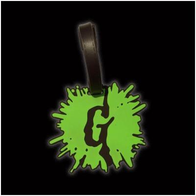 Goosebumps Green Splat G Luggage Tag