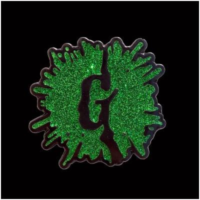 Goosebumps Glitter G Splat Enamel Pin