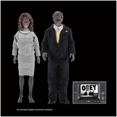 """Neca They Live 8"""" Clothed Figures - 2 Pack"""