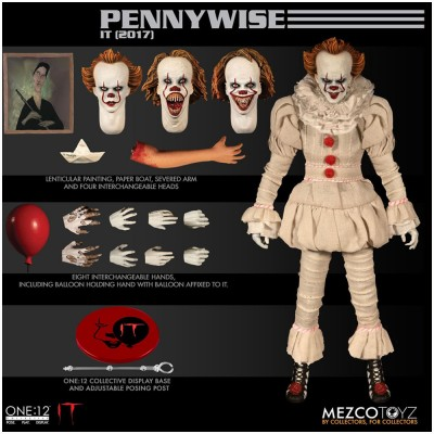 MEZCO One:12 Collective Pennywise 2017 Figure