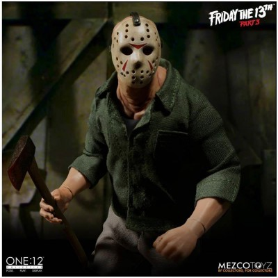 MEZCO One:12 Collective Friday the 13th Part 3  Jason Voorhees Figure - PRE ORDER
