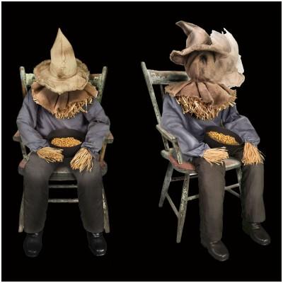 Animated Sitting Scarecrow