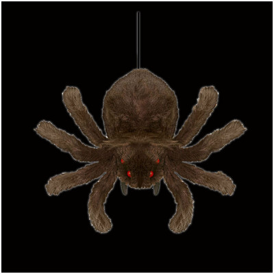 Hanging Brown Shaking Spider