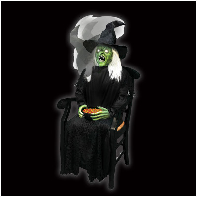 Animated Sitting Scare Witch - SOLD OUT