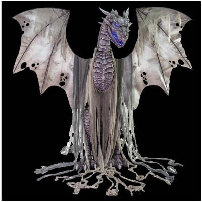 7ft Winter Dragon Animated Prop - SOLD OUT