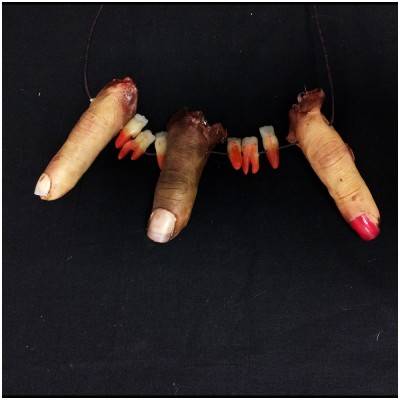 Severed Finger & Teeth Necklace