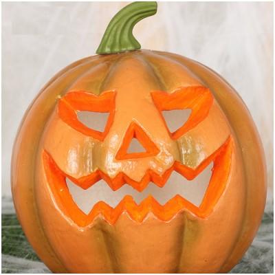 Creepy Light Up Pumpkin