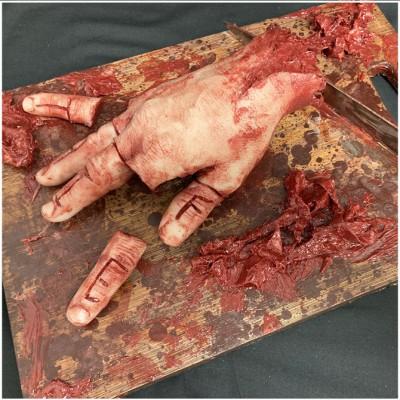 Silicone Hand Chopping Board Escape Room Prop