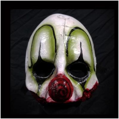 Clown Quarter Mask - Green