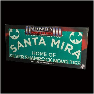 Halloween 3 - Santa Mira Wooden Sign - PRE ORDER