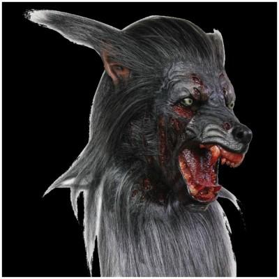 Deluxe Black Werewolf Mask