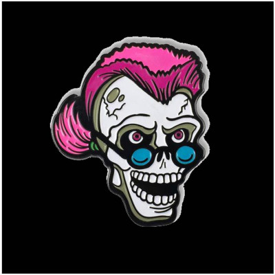 Creepy Co. Goosebumps Curly the Skeleton Pin