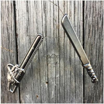 Jason Machete / Leatherface Chainsaw Pin