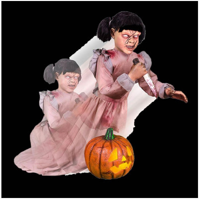 Animated Lunging Pumpkin Carver