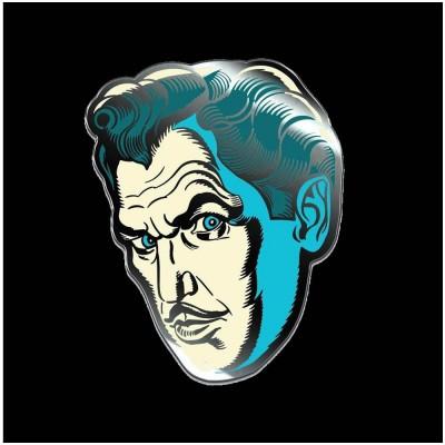 Creepy Co. Vincent Price Phosphorescent Pallor Pin