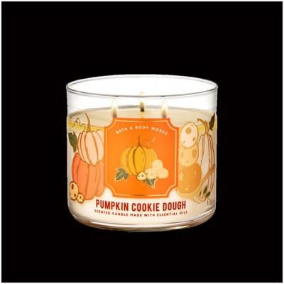 Bath & Body Works 3 Wick Candle - Pumpkin Cookie Dough