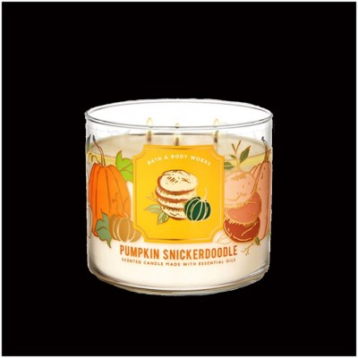 Bath & Body Works 3 Wick Candle - Pumpkin Snickerdoodle