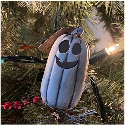 Ghost Pumpkin Christmas Tree Ornament