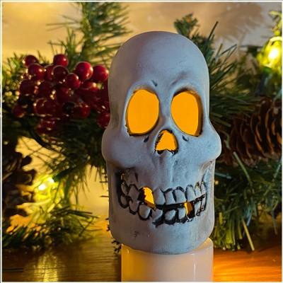 Ceramic Tea Light Holder - MiniSkull