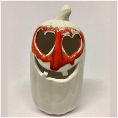 Valentine Mini Ghost Pumpkin - Happy