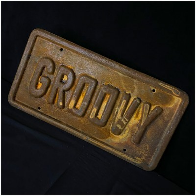 Evil Dead 'Groovy' Replica Licence Plate