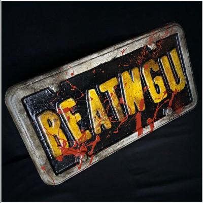 Beatngu' Replica Bloody Licence Plate