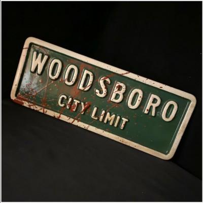 Woodsboro City Limits Replica Bloody Street Sign