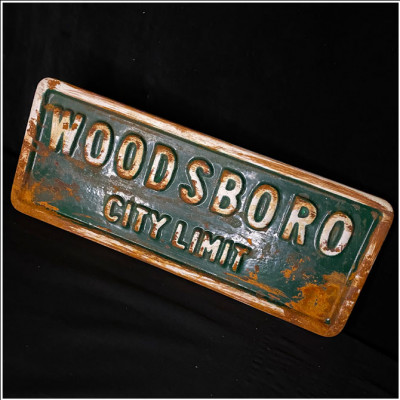 Woodsboro City Limits Replica Rusty Street Sign