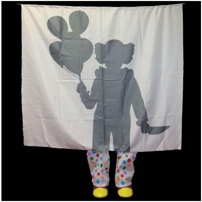 Clown Silhouette Prop