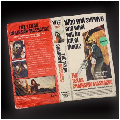 Creepy Co. Texas Chainsaw Massacre VHS Blanket
