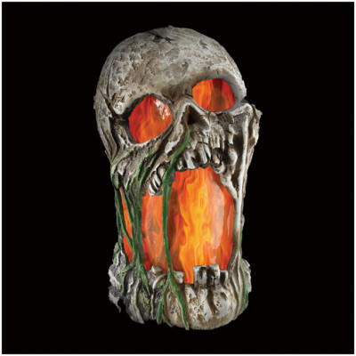 Flaming Rotted Skull - PRE ORDER