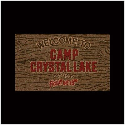 Friday the 13th Doormat - Welcome to Camp Crystal Lake