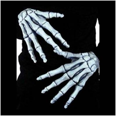 Ghostly Bones Skeleton Gloves