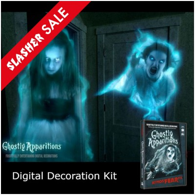 Halloween Digital Decorations Kit + AtmosFX Ghostly Apparitions DVD (12)