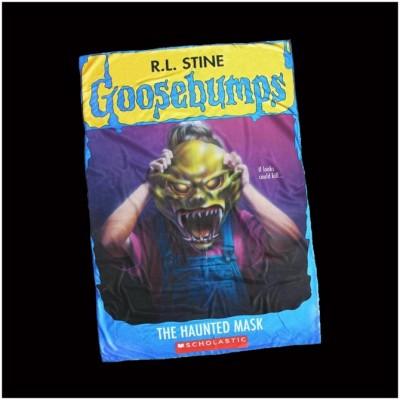 Creepy Co. Goosebumps Haunted Mask Blanket