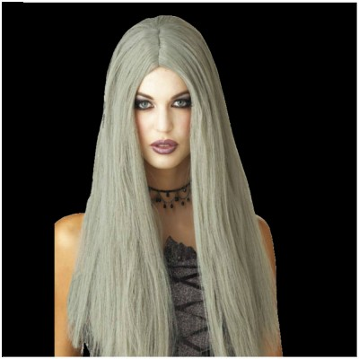 Long Grey Witch Wig
