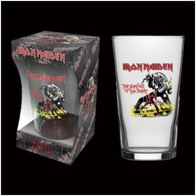 Iron Maiden Number of the Beast Pint Glass